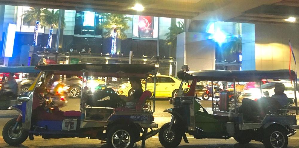 Tuk tuks in Bangkok Thailand
